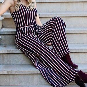 Striped Tie Knot Jumpsuit